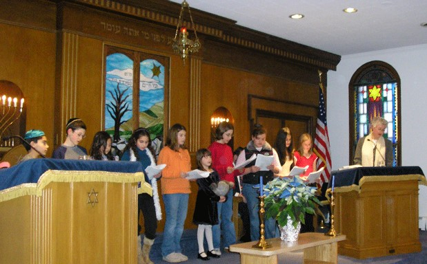 "Sunday School Choir singing ""Tefilat Haderech"""