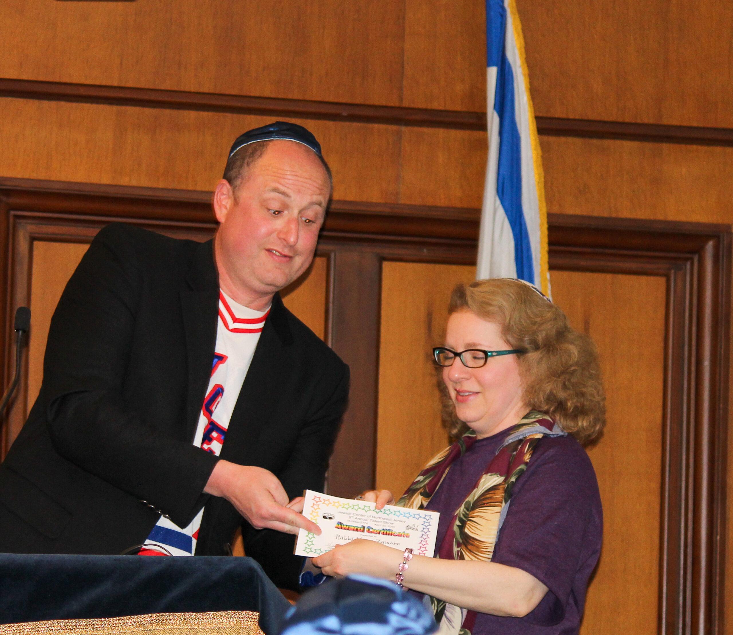 Brett Schaeffer and Rabbi Mary Zamore