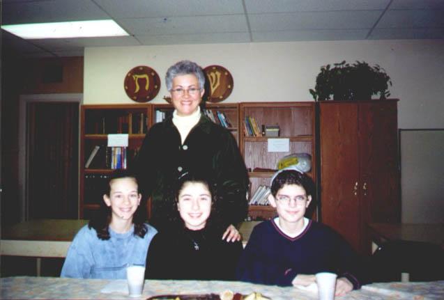 Kara, Chelsea, Geoff with Rabbi Lewis